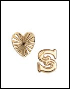 Bing Bang Mini Initial S Heart Stud Earrings