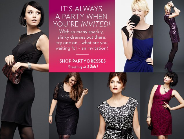 Shop Party Dresses Starting at $36!
