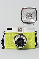 The Diana F+ Camera with Flash in Glow in the Dark