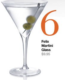 6. Felix Martini Glass