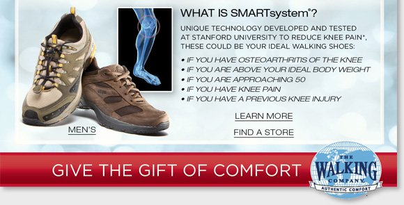 The Walking Company mission is to help you walk in comfort in all aspects of your life. Our highly-trained comfort fit specialists will help you with all of your comfort shoe needs. Customer service is our number one priority and your satisfaction is guaranteed. We are dedicated to bringing you the best selection of the finest brands from around the world. When you purchase from The Walking Company you are making an investment in your health and wellness; we will make sure you can select from the best, most fashionable and most technically-advanced comfort shoes available. Our product  development team is constantly on the move, searching every corner of the globe to find shoe brands featuring the latest breakthroughs in comfort shoe technology.