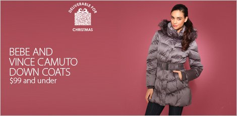 Bebe and Vince Camuto down coats