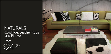 NATURALS: Cowhide & Leather Rugs & Pillows