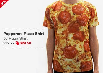 Pepperoni Pizza Shirt Image