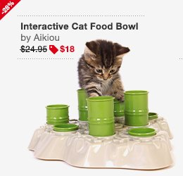 Aikiou Interactive Cat Food Bowl Image