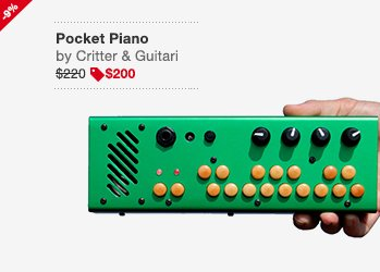 Critter & Guitari Pocket Piano Image