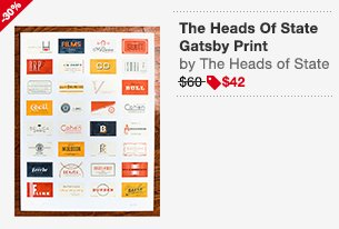 The Heads Of State Gatsby Print Image