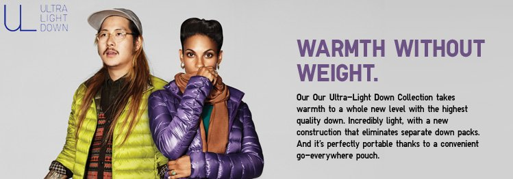 Warmth without weight.