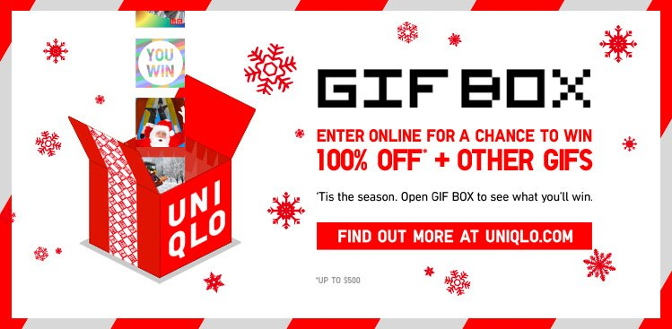 GIF BOX. Enter online for a chance to win. 100% off* + other Gifs.