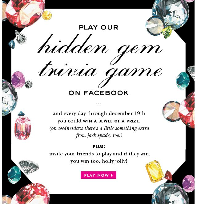 play our hidden gem trivia game on facebook. play now.