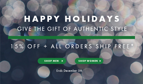 Happy Holidays - 15% OFF + All Orders Ship Free