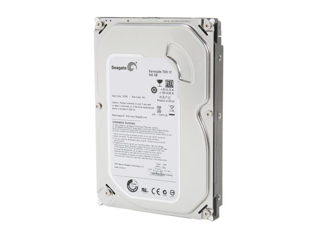Seagate Barracuda ST500DM002 500GB 7200 RPM 16MB Cache SATA 6.0Gb/s 3.5 inch Internal Hard Drive - Bare Drive