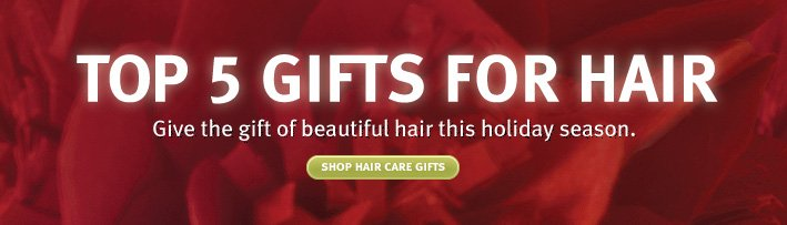top 5 gifts for hair. shop hair  care gift sets.