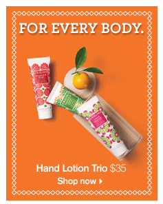 FOR EVERY BODY Hand Lotion Trio 35 dollars Shop now