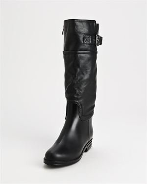 Dav English Buckle Leather Accent  Rain Boots
