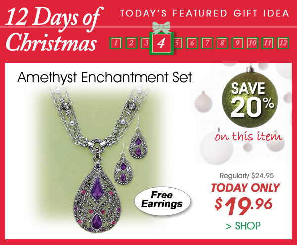 Today Only! Save 20% on Amethyst Enchantment Set - Only $19.96