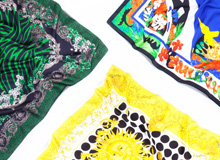 Silk Staples Scarves byVersace, FENDI,& More