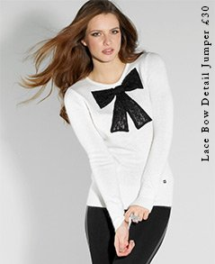 Lace Bow Detail Jumper