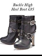 Buckle High Heel Boot