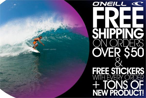 Free Shipping on order over $50!