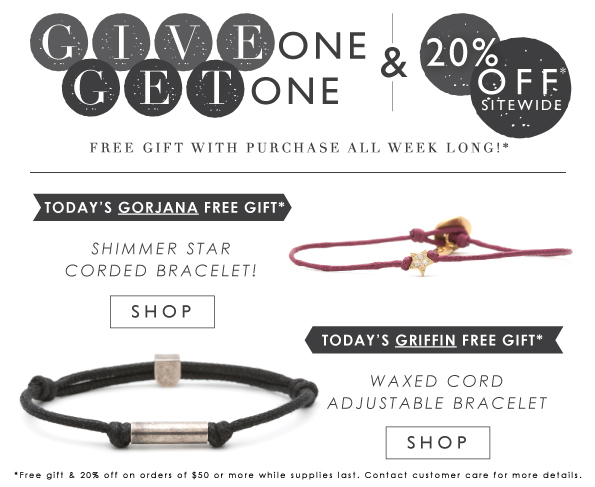 Give One Get One | 20% Off