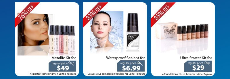 Purchase our Metallic Kit for $49, our Waterproof Sealant for $6.99 or our Ultra Starter Kit for $29.
