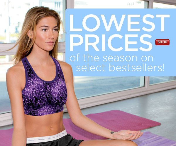 Season's Lowest Prices - Select Bras