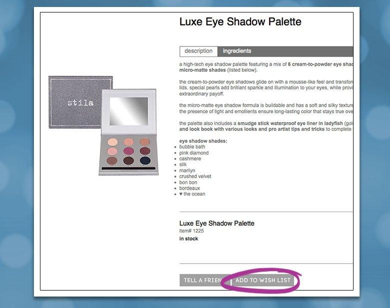 luxe eye shadow palette