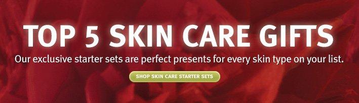 top 5 skin care gift sets. shop skin care started sets.