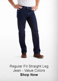 REGULAR FIT STRAIGHT LEG JEAN - VALUE COLORS SHOP NOW