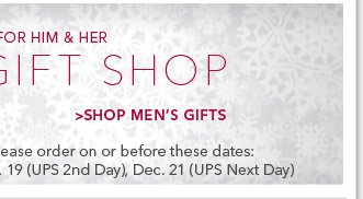 Shop Men's Gifts
