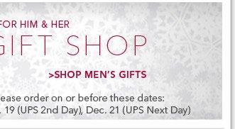 Shop Men's Gifts
