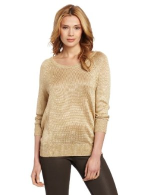 Vince Camuto <br/>High Low Lurex Sweater