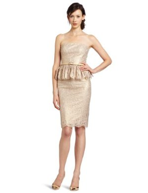 Robert Rodriguez<br/> Metallic Strapless Lace Dress