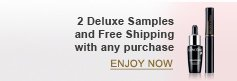 2 Deluxe Samples and Free Shipping with any purchase | ENJOY NOW