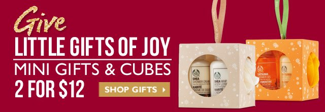 Give Little Gifts of Joy 2 - Mini Gifts & Cubes - 2 for $12