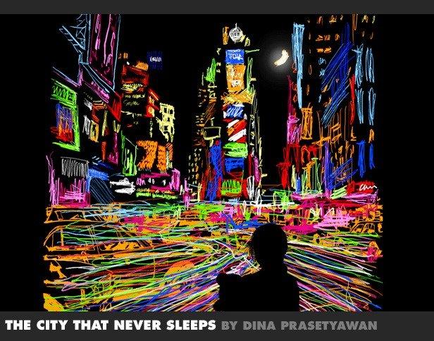 The City That Never Sleeps by Dina Prasetyawan