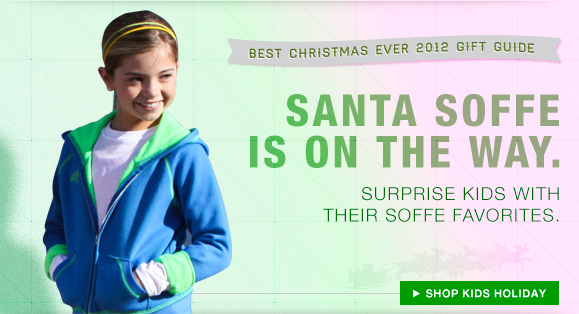 Santa Soffe Is On The Way. Surprise Kids With Their Soffe Favorites.