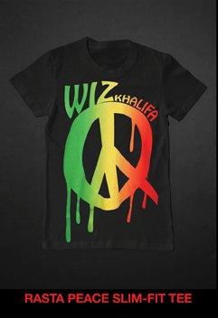 RASTA PEACE SLIM-FIT TEE