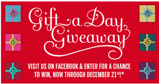 Gift a Day Giveaway! Visit us on Facebook and enter for a chance to win, now through December 21st!*