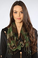 The Camo Scarf in Black and Green