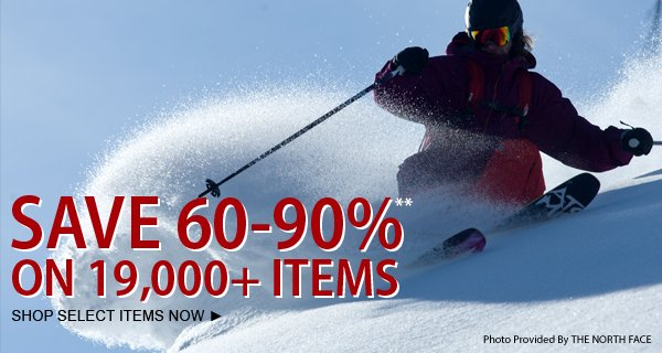 TODAY ONLY! Save 60-90% on over 19,000 items!