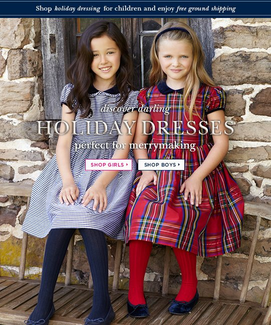 Discover darling Holiday Dresses perfect for merrymaking. Shop girls> Shop boys>
