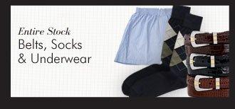 Belts, Socks & Underwear