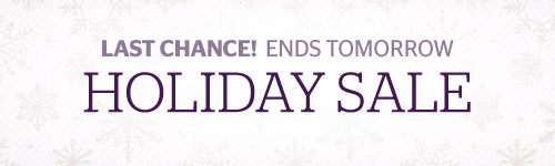 Holiday Sale Ends Tomorrow