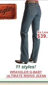 Wrangler Q-Baby Ultimate Riding Jeans as low as $39.99