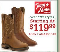 Tony Lama Starting at $119.99