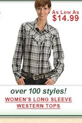 Womens Long Sleeve Western Tops