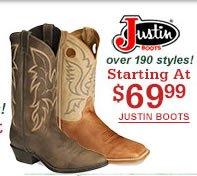 Justin Starting at $69.99