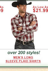 Mens Long Sleeve Plaid Shirts
